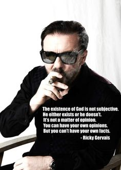 The existence of God is not subjective...