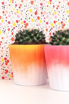 Learn to make these colorful and fun ombre planters in only 5 minutes!