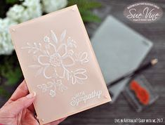Miss Pinks Craft Spot: Dry Embossing with Vellum