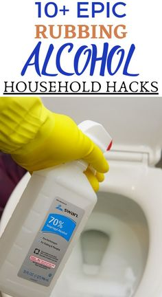 Rubbing Alcohol Household Tips And Tricks In this article, I will give you 10 of the best ways you can use rubbing alcohol in your house and car. Check this pin out to see how you can do this Homemade Cleaning Supplies, Diy Home Cleaning, Household Cleaning Tips, Cleaning Recipes, Bathroom Cleaning, House Cleaning Tips, Cleaning Hacks, Household Cleaners, Homemade Cleaning Wipes