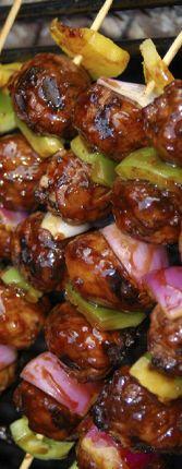 Norwegian meatball kebabs