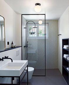 Bathroom decor for your bathroom remodel. Discover bathroom organization, bathroom decor ideas, bathroom tile ideas, bathroom paint colors, and more. Simple Bathroom, Modern Bathroom Design, Bathroom Interior Design, Boho Bathroom, Small Elegant Bathroom, Long Narrow Bathroom, Wet Room Bathroom, Small Basement Bathroom, Bathroom Cost