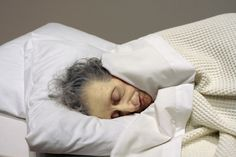 Ron Mueck  'Old Woman in bed' (detail)  2002