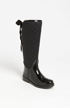 fd94041b908e COACH  Tristee  Rain Boot (Women) available at  Nordstrom Rain Boots