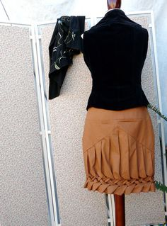 skirt with canadian smocking at hem
