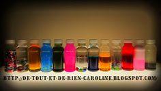 De tout et de rien: Activités pour le Préscolaire: Discovery bottles: when learning is fun - Bouteilles de découverte: quand l'exploration est un jeu Hair gel Corn syrup
