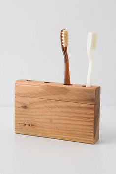 Wooden toothbrush holder #diy