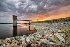 Tuttle Creek Dam near Manhattan, KS at Sunrise; by Scott Ackerman Photography
