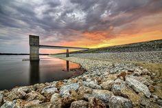 Tuttle Creek Dam near Manhattan, KS at Sunrise; by Scott Ackerman Photography