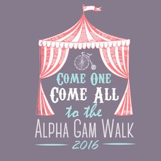 Alpha Gamma Delta Carnival Design by College Hill Custom Threads sorority and fraternity greek apparel and products! Customize this design for your chapter today.