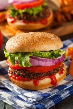 Smokey Black Bean Burgers on MyRecipeMagic.com. You won't miss the meat with these delicious black bean burger patties! Smokey with just the right blend of seasonings to make the perfect vegan burger. Yum!