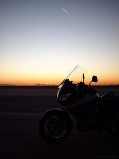 Suzuki V-Strom 1000 at sunset