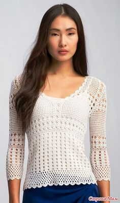 Filet crochet shirt! CARAMELO ARDIENTE es... LA PRINCESA DEL CROCHET: filet blanco