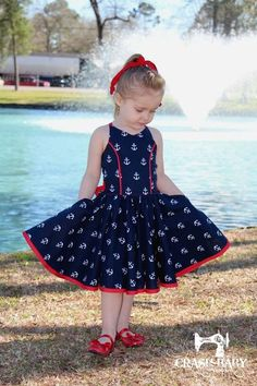 Best 12 A PDF Pattern Company for Boutique Clothing and Accessories. Including crochet patterns, embroidery and appliqué designs, and SVG cut files. Girls Frock Design, Baby Dress Design, Baby Girl Dress Patterns, Baby Frock Pattern, Baby Girl Frocks, Frocks For Girls, Little Girl Dresses, Kid Dresses, Baby Frocks Designs
