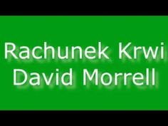 Rachunek krwi - David Morrell | Audiobook PL - YouTube Audio Books, The Creator, David, Youtube, Youtubers, Youtube Movies