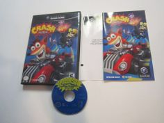 Crash Tag Team Racing Nintendo GameCube COMPLETE Case, Artwork, Manual, Disc