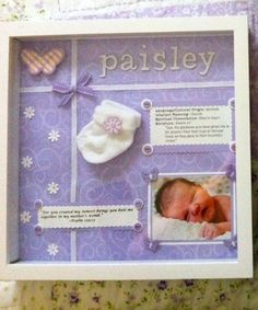 Personalized baby gift I made for my niece.