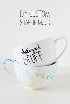 DIY Sharpie Mugs - next time at ikea - girls to make grandmas for mother's day