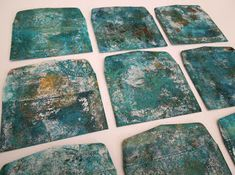 Inky Dinky Doodle: WOYWW #371:Grungy gelli prints II and happy mail!