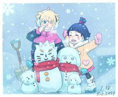 Uzumaki Family snowman!! #Niceworkboruhima #Uzumaki Family