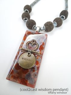 Love the way Cool2Cast takes on so many different looks! Cool2Cast Wisdom Pendant #craft #jewelry designed by Tiffany Windsor www.cool2craft.com