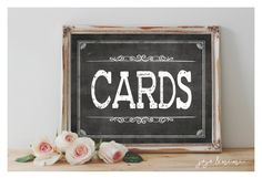 Instant 'CARDS' Printable Wedding or Event Cards Table