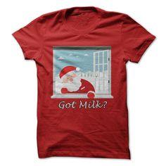 Santa Got Milk T-Shirts, Hoodies. Get It Now ==► https://www.sunfrog.com/Holidays/Santa-Got-Milk.html?id=41382