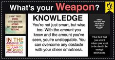 Your weapon is your secret power against the world. All of us have weapons, but yours is more powerful than anything in the world. Share this post to show the world that you're armed with something more dangerous than any weapon in the world.