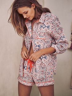 The Mayfair Boxer Pajama  Multi Paisley Print