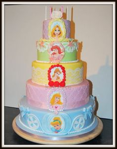 Disney Princess Cake - by Kupcake @ CakesDecor.com - cake decorating website