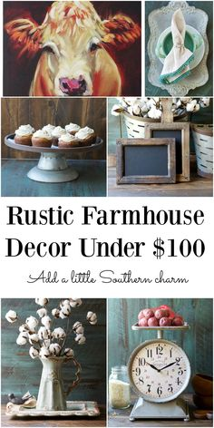 Rustic Farmhouse Decor for under $100!! Lots of this stuff is much cheaper than on other websites!
