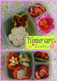 Beautiful AND easy Flower themed lunches #EasyLunchboxes