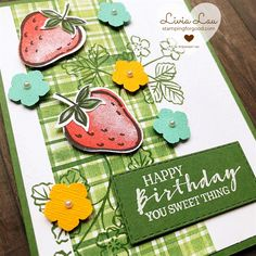 Greeting Cards Handmade, Stamping, Berries, Blessed, Happy, Projects, Log Projects, Blue Prints, Stamps