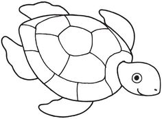 Sea Turtle Drawing Coloring Page