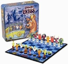 How many of you use to watch Scooby Doo as a kid? Well now you can get Scooby Doo chess set pieces. Buy a Scooby Doo chess set today! Scooby Doo Games, Scooby Doo Mystery Incorporated, Best Cartoons Ever, Kid Movies, Board Games, Disneyland, Pokemon, Childhood, Geek Stuff