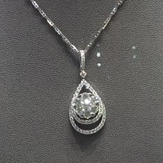 Liontin emas 💎 berlian Mode Lotus dlm Pear. (Harga Cuci Gudang)  Toko Perhiasan Emas Berlian-MJ,Jakarta +628118455779/DC9E309C Cp.Tri. #emas #berlian #investasi #fashion
