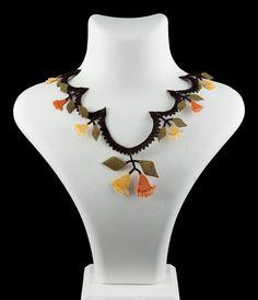 """""""Autumn lanes"""" silk lace necklace"""