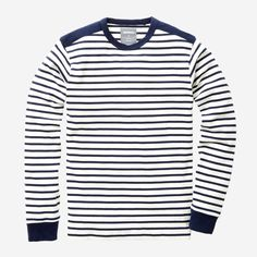 Crisp and classic striped jersey crewneck from Bonobos -- I love my shades of blue!