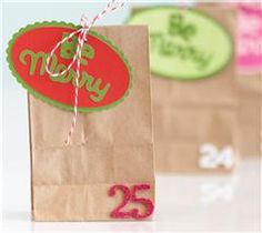 Make these little gift bags to mark down the merry days of December!