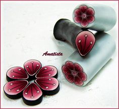 Murrina flor granate | by el rincón de amatista