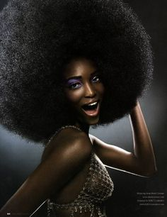 African woman, Afro, and beautiful image