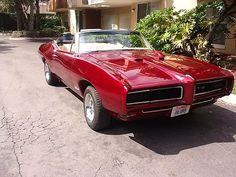 1968 Pontiac GTO Convertible; 455 ci 4 spd; show car candy brandy wine