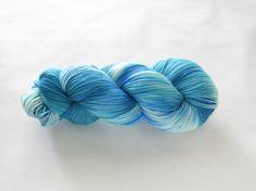 BOUGHT - Hand Dyed Sock Yarn Shawl Length Frida Helix Fat by gnarledpaw