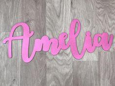 Signo de placa de nombre para niños Para Niña Niño Adolescente personalizado de madera espejo 30cm