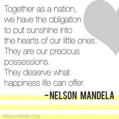 Nelson Mandela Children/Parenthood Quote