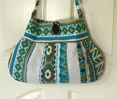 OOAK Tribal Blue Bag by Oyeta