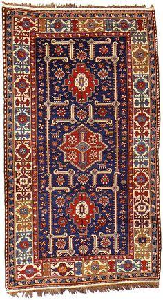 "Alberto Levi Gallery  shirvan rug shemakha district northeast caucasus circa 1880 230 x 130 cm (7'7"" x 4'3"")"