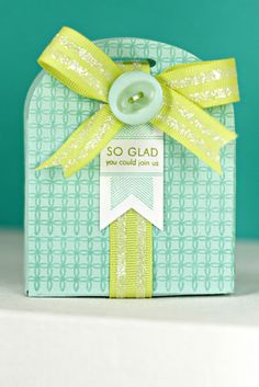 Sweet Sugar Coated Embellishments Challenge - So Glad Box (Glittered Ribbon) by Erin Lincoln for Papertrey Ink (August 2013)