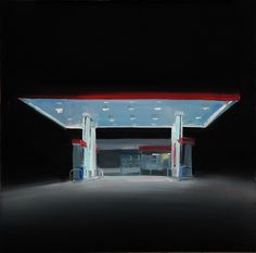 Trevor Young, Night lights paintings