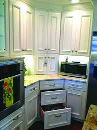 Beautiful corner kitchen cabinet appliance garage to inspire you